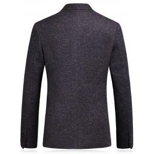 Lapel Single Breasted Wool Blend Edging Blazer - CONCORD 3XL