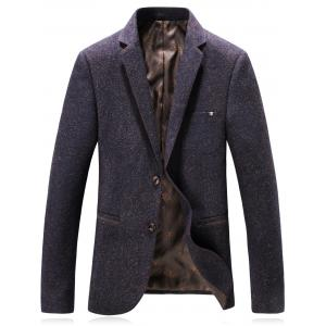 Lapel Single Breasted Wool Blend Edging Blazer