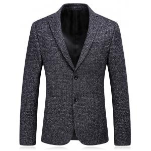 Woolen Blend Single Breasted Metallic Eyelet Blazer