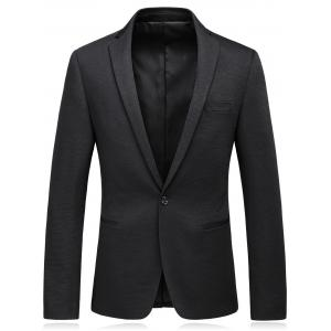 One Button Lapel Edging Cotton Blends Blazer
