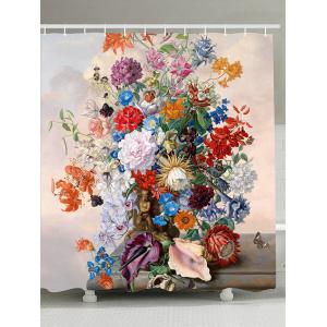 Flowers Blossom Waterproof Bathroom Shower Curtain