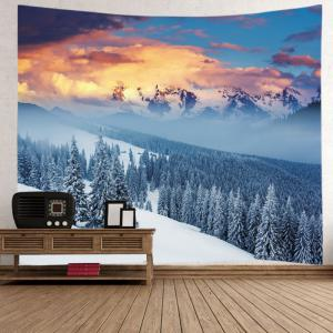 Snow Mountain Print Tapestry Wall Hanging Art Decoration -