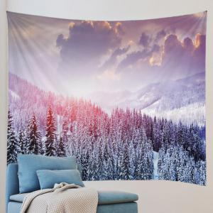 Mountain Snow Print Tapestry Wall Hanging Art Decoration -