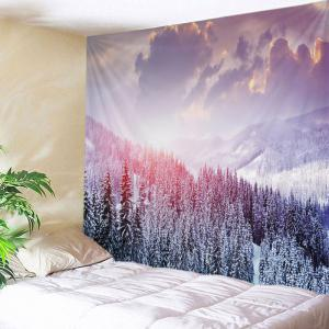 Mountain Snow Print Tapestry Wall Hanging Art Decoration