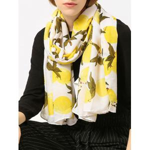 Cotton Blending Lemon Printed Shawl Scarf