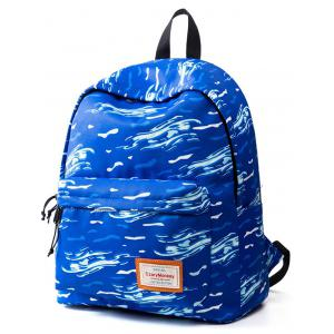 Casual Nylon Printed Backpack -