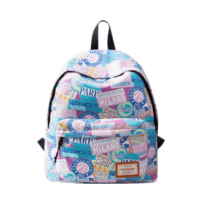 Casual Nylon Printed Backpack - PINK