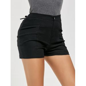 Lace-up Shorts - BLACK S