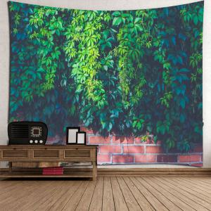Waterproof Leaf Brick Print Wall Art Tapestry -