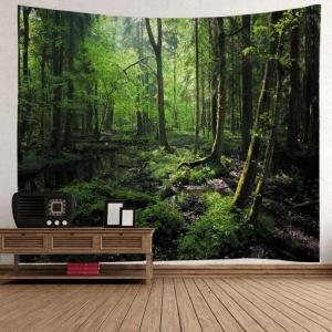 Forest Trees Print Tapestry Wall Hanging Art Decoration -