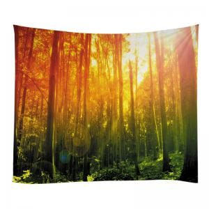 Forest Sunshine Print Tapisserie Wall Hanging Art Décoration -