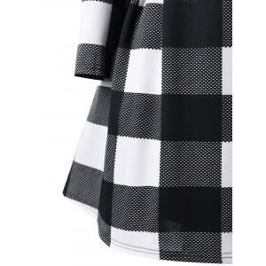 Plaid Notched Collar Skirt Coat -