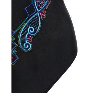 Plus Size Crossback Embroidered Swimsuit -