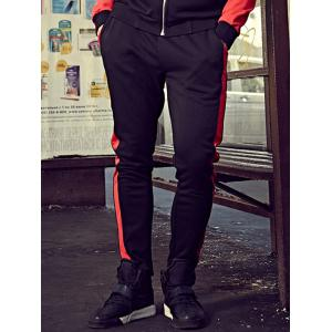 Color Block Drawstring Plus Size Sweatpants -