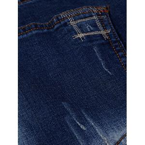 Plus Size Stitching Zip Fly Jeans -