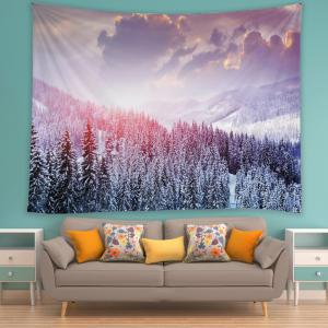 Mountain Snow Print Tapestry Wall Hanging Art Décoration -