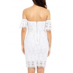 Off The Shoulder Sheath Lace Cocktail Dress -