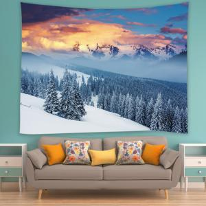 Snow Mountain Print Tapestry Wall Hanging Art Décoration -