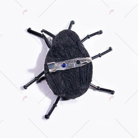 Discount Rhinestoned Insect Brooch - BLACK  Mobile