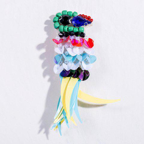 Affordable Rhinestone Parrot Sequins Brooch