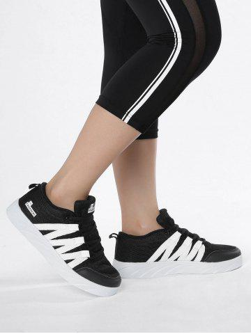 Outfits Mesh Breathable Skate Shoes - 37 BLACK Mobile