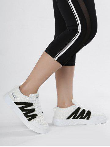Discount Mesh Breathable Skate Shoes - 38 WHITE Mobile