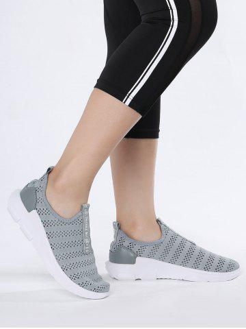 Discount Letter Pattern Breathable Athletic Shoes - 41 GRAY Mobile