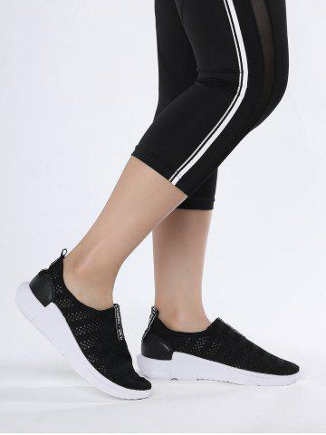 Letter Pattern Breathable Athletic Shoes - Black - 37