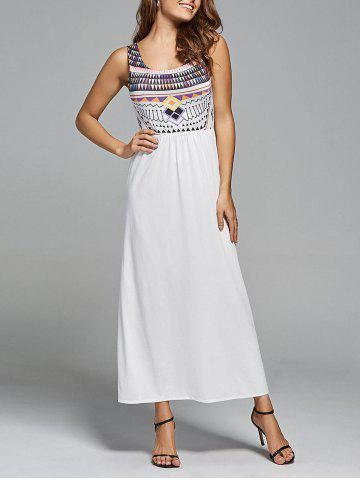Latest Geometric Print Bohemian Maxi  Dress