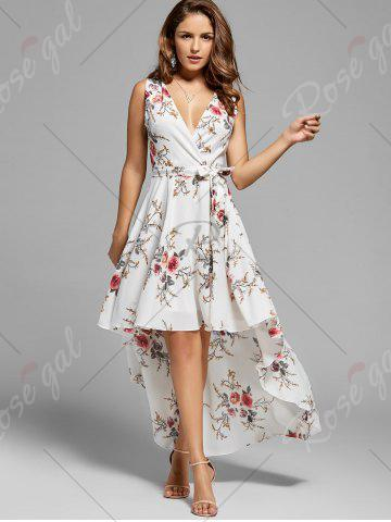 New Floral High Low Dress - XL WHITE Mobile