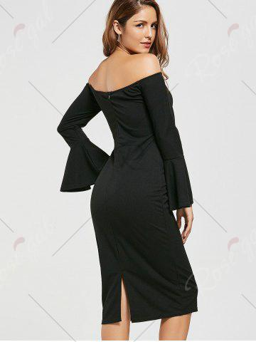 Store Bodycon Off The Shoulder Dress - S BLACK Mobile