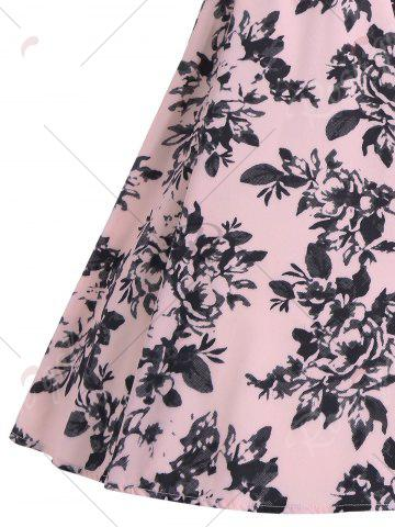Shops Print A Line Vintage Flare Cocktail Dress - S PINK Mobile