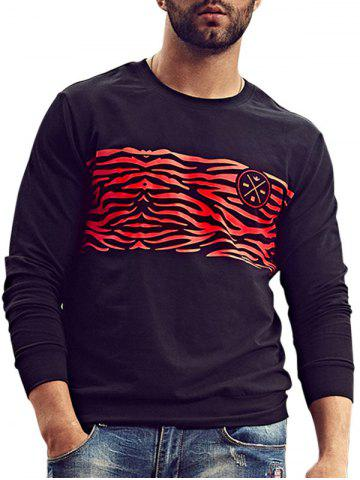 Cheap Camo Print Crew Neck Plus Size Sweatshirt - 6XL BLACK Mobile