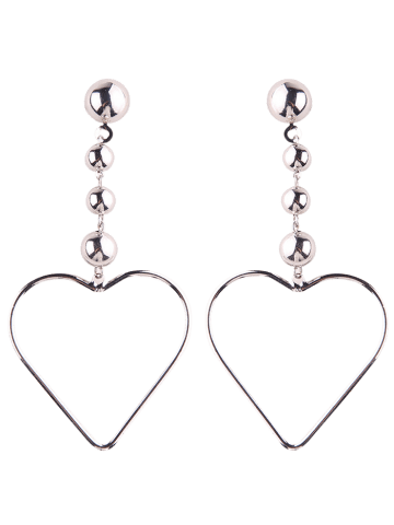Latest Hollow Out Heart Alloy Drop Earrings