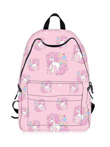 Outfit Padded Strap Unicorn Print Backpack PINK