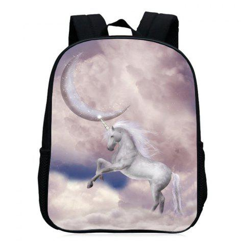 Best Padded Strap Unicorn Printed Backpack PALOMINO