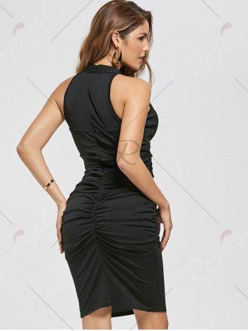 New Ruched Bodycon Dress - M BLACK Mobile