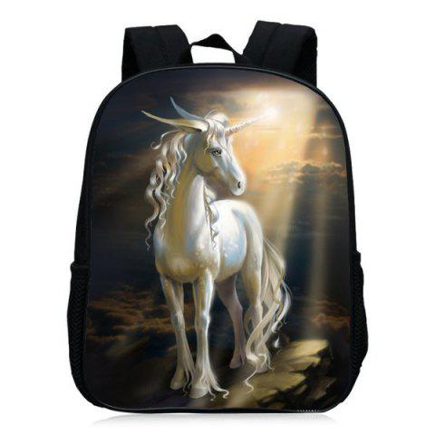 Store Padded Strap Unicorn Printed Backpack