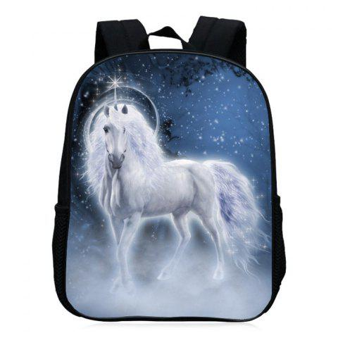 Chic Padded Strap Unicorn Printed Backpack