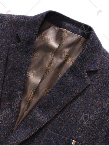 Fancy Lapel Single Breasted Wool Blend Edging Blazer - L CONCORD Mobile