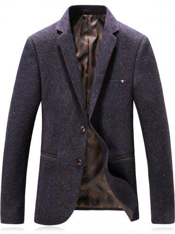 Affordable Lapel Single Breasted Wool Blend Edging Blazer CONCORD 3XL