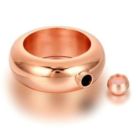 Discount Wide Bangle Bracelet Stainless Steel Flask - ROSE GOLD  Mobile