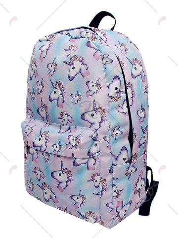 Affordable Unicorn Printed Backpack - PINKISH BLUE  Mobile