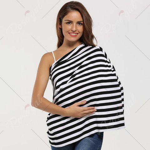 Affordable Breastfeeding Nursing Scarf - BLACK  Mobile