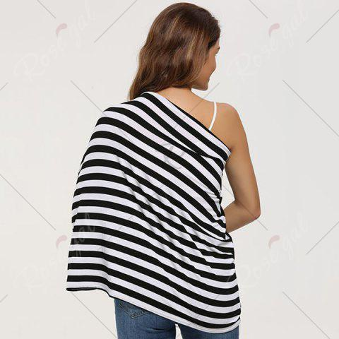 Trendy Breastfeeding Nursing Scarf - BLACK  Mobile