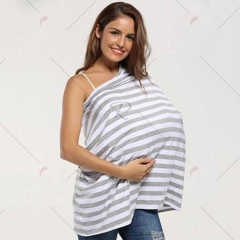 Buy Breastfeeding Nursing Scarf - GREY WHITE  Mobile
