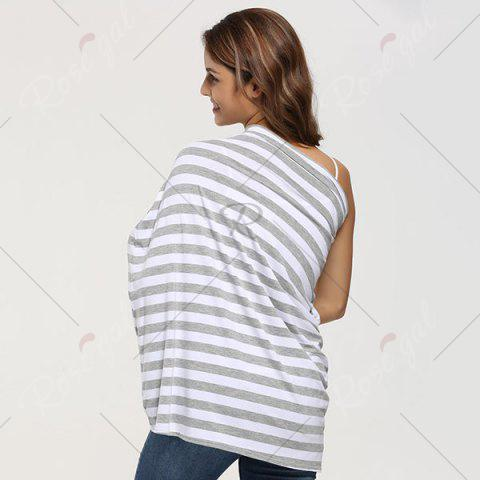 Sale Breastfeeding Nursing Scarf - GREY WHITE  Mobile