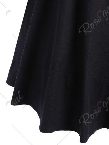 Store Boat Neck Vintage Dress - S BLACK Mobile