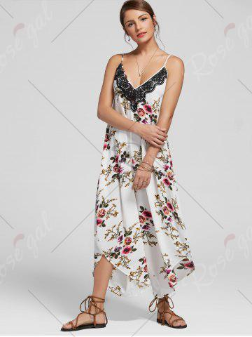 Outfits Floral Print Ninth Cami Wide Leg Jumpsuit - XL FLORAL Mobile