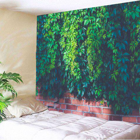 Outfit Waterproof Leaf Brick Print Wall Art Tapestry